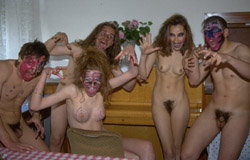 Nudist Halloween Party